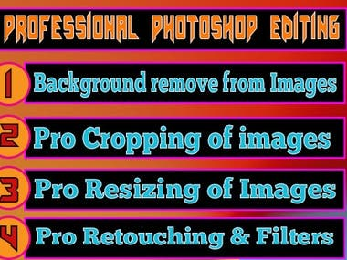 Photoshop editing and background removal
