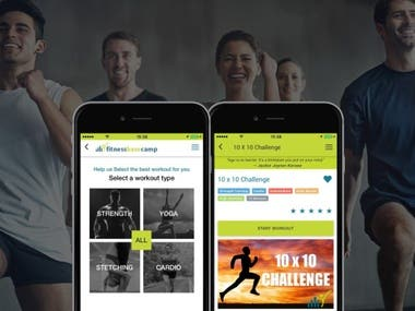 Fitness Basecamp - Health and Fitness Tracking App