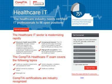 CompTIA PSD to HTML + jQuery implementation