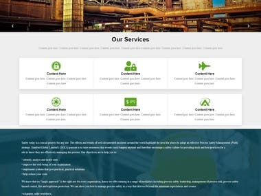 Custom made Website for NDT service