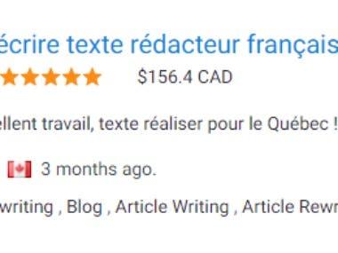 Ré-écrire texte rédacteur français 10 000 mots