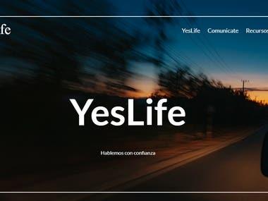 Yeslife Demo Website