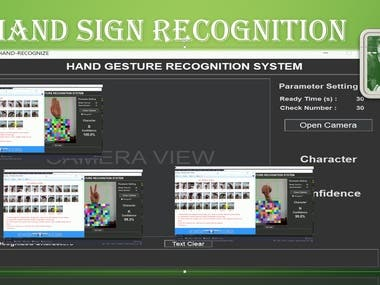 Hand Sign Language Recognition