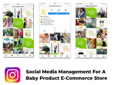 Social Media Management for E-commerce Store