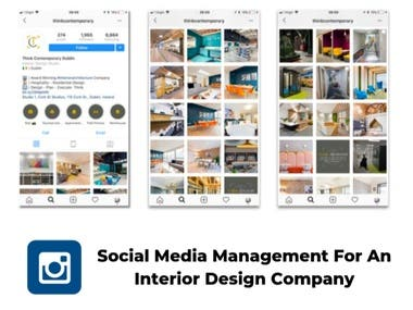 Social Media Management for Large Interior Design Company