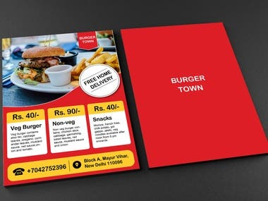 Burger town concept flyer Design