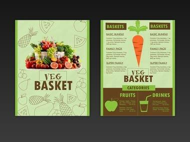 Flyer / Menu card concept design