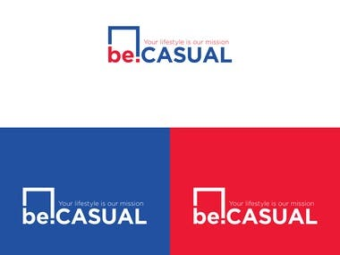 becasual logo design