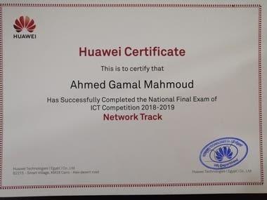 Huawei certificate (2019)