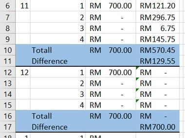 Dynamic Budget Worksheet Design