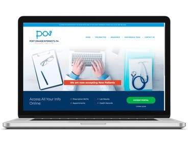 Medical: Landing page developed for a medical team. SEO, WPO