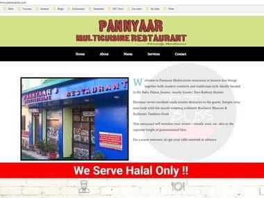 Restaurant Booking Site(Kashmir)