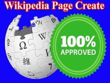 Wikipedia Page Create and Edit