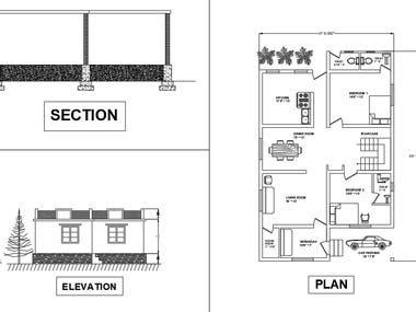 Single storey residential building plan