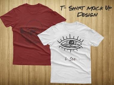 Mock Up Design T shirt