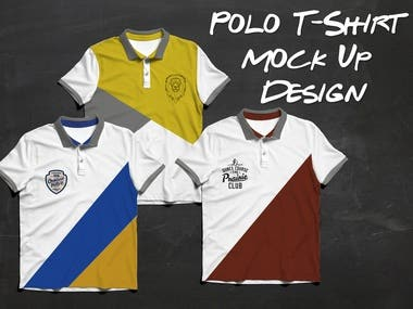 Mock-Up Polo Design T-Shirt