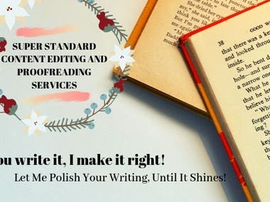 Proofreading and Editing!