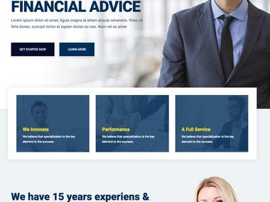 Beadvicese - Business and Financial wordpress theme