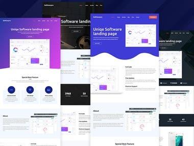 Softwarepro - Software landing Page Sass wordpress theme