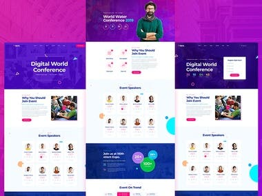 Eventes - Conference and Event WordPress Theme