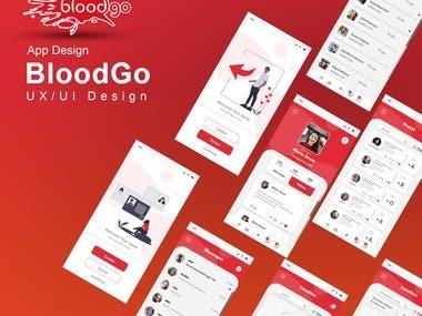 UX/UI Design App   BloodGo