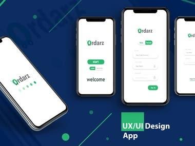 UX/UI Design App   Ordarz