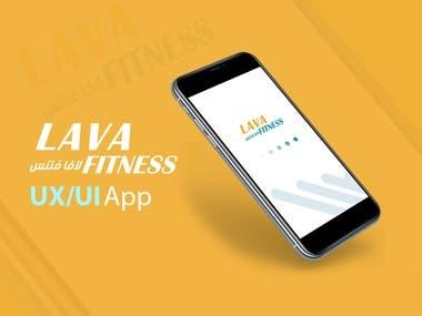 UX/UI Design App   Lava fitness