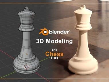 3D Design   Chess piece