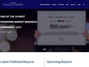 Online selling of Market analysis reports
