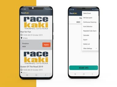 RaceKAKI Event Management App