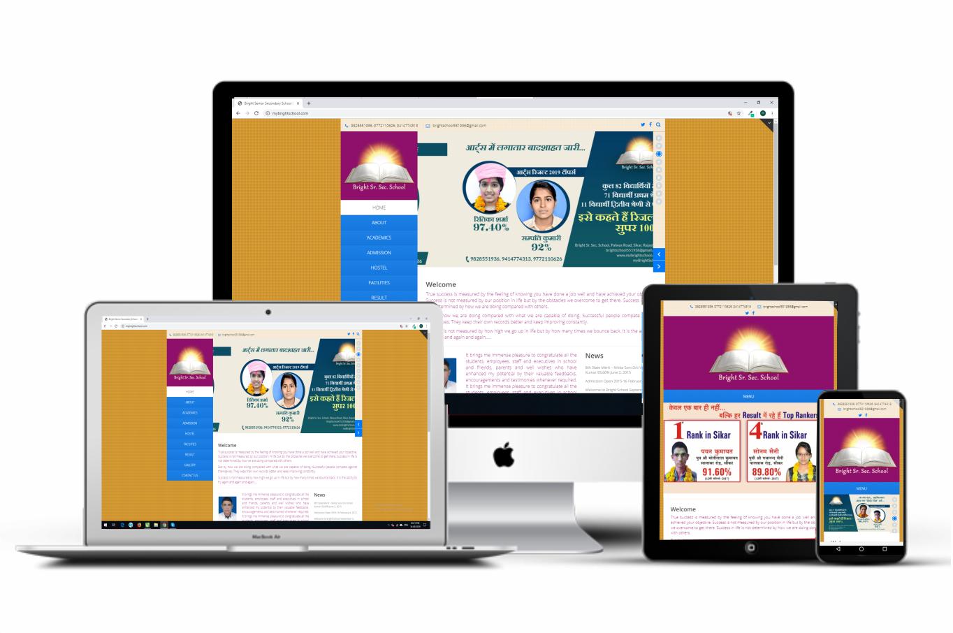 Bright Sr. Sec School App(Full Stack And Mobile Development)