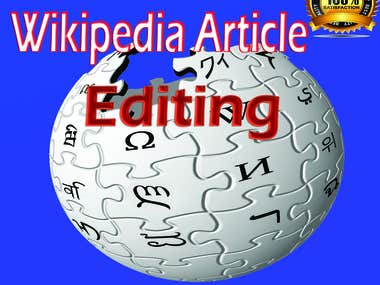 Wikipedia Article Writing and editing