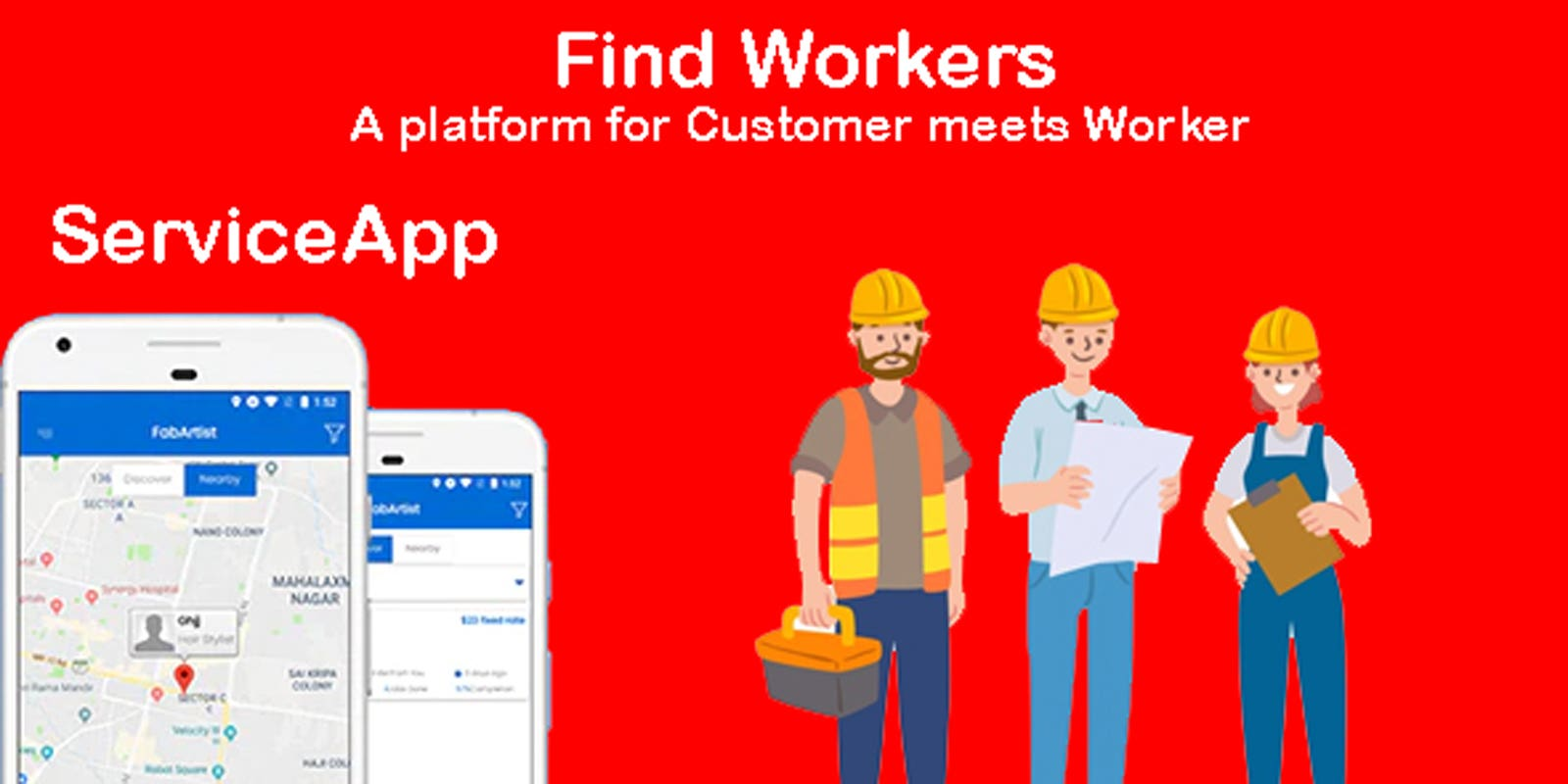 Service App | Hire for worker | Find worker