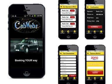 Taxi Appp design