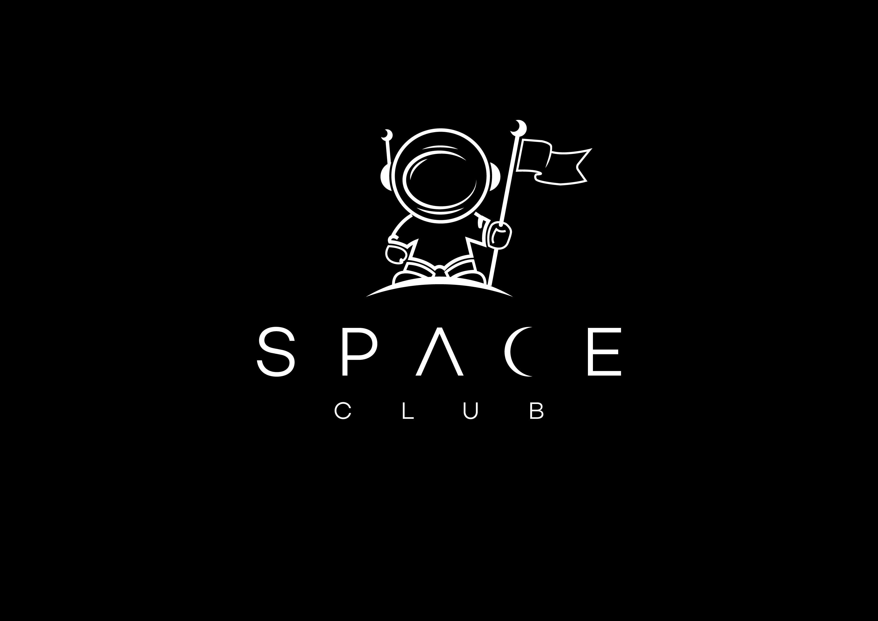 """Minimalist logo design for Nightclub """"Space club"""""""