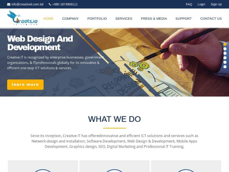 PHP Website for IT Company