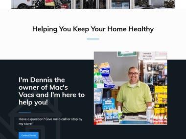 Vacuum Repairing Shop website.