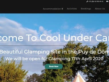 Glamping Web Site with Online Booking