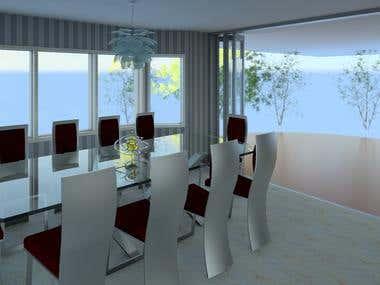 Dining Room Rendering