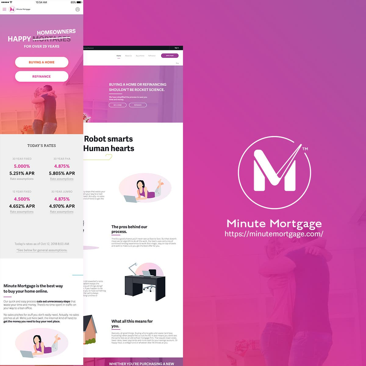 Minute Mortgage website