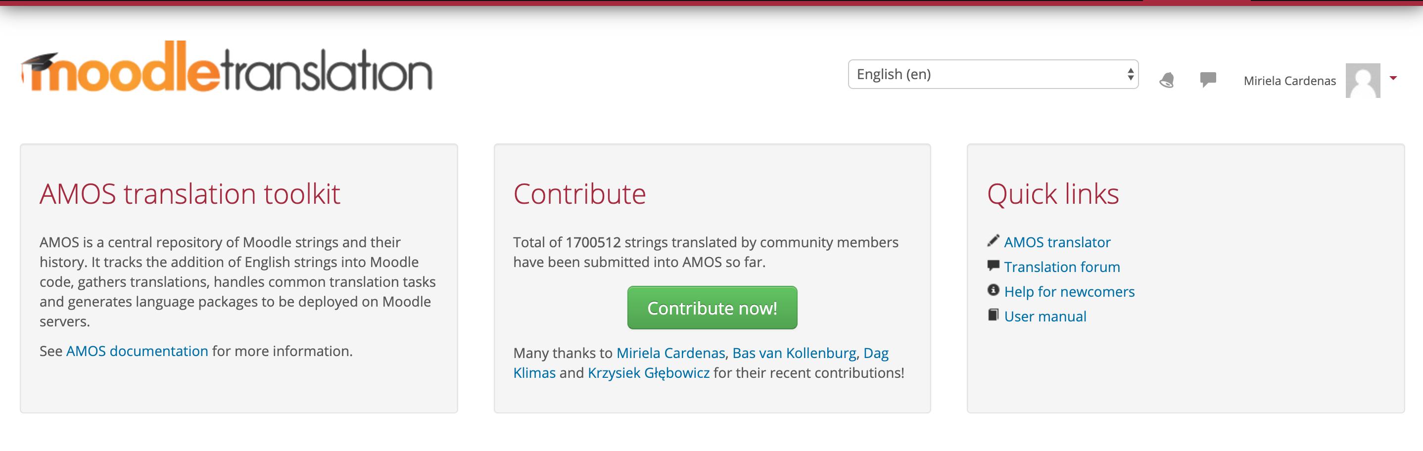 Translation Contribution Moodle.org