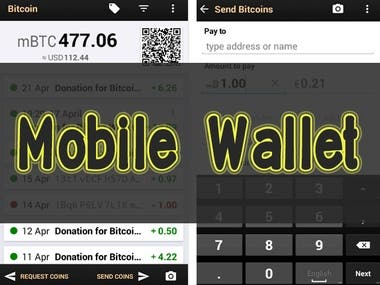 Cryptocurrency Mobile Wallet
