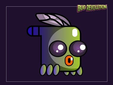 RE-DESIGN CHARACTERS FOR MOBILE GAME -Bug revolution