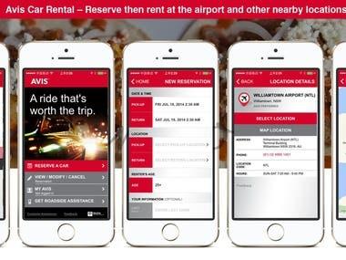 Avis Car Mobile App