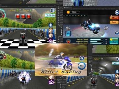 Unity3d Killer Racing Game