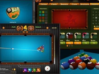 3D Billiard Game
