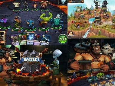 3D Card Battle game by Unity3d.