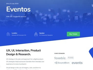 Eventos - Event HTML Template