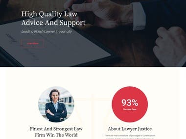 Law - HTML Template