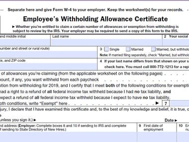 Form W-4, Employee's Withholding Allowance Certificate